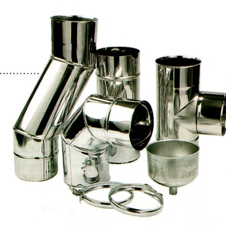 TEN flue pipes: Matt Black and Stainless Steel.